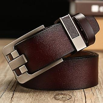 Cow Genuine Leather, Luxury Strap Male Belts, Pin Buckle Belt