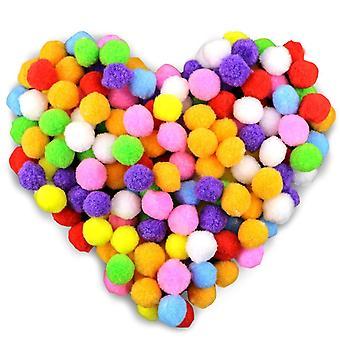 250 Farvede Pom Pom Balls 2,5 cm Fluffy Plys bolde for sjov Diy Creative Craft