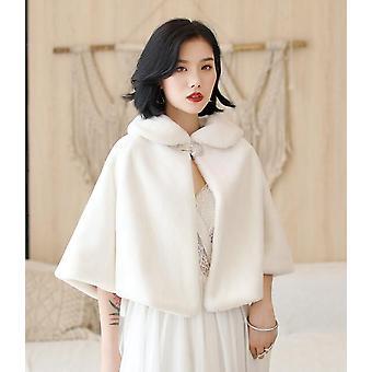 Formal Party Evening Jackets Wraps Faux Fur Cloaks Wedding Capes