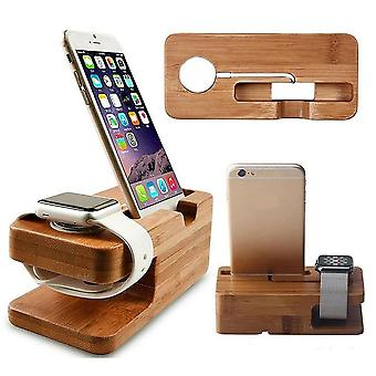 Wooden Charging Dock Station For Mobile, Phone Holderr Stand