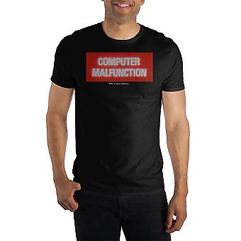 2001 A space odyssey computer malfunction t shirt for men
