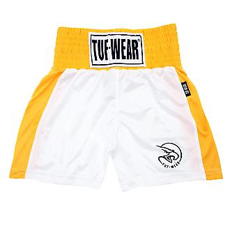 Tuf Wear Barn Junior Club Boxning Shorts Vit / Guld