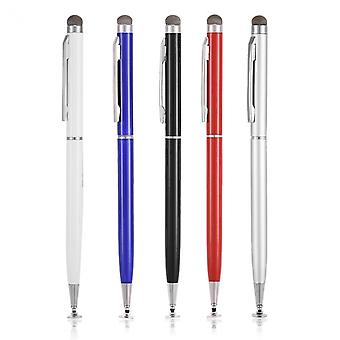 2 in 1 kapazitive Handy Touchscreen Stift mit Tuch Kopf