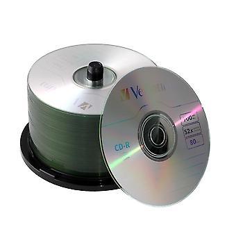 Cd-r Cd Disks Bluray 700mb 80min 52x Branded Recordable Media Blank Disc 50pk