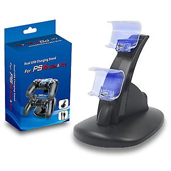 Led Usb Dual Game Controller Charger Dock Station For PS4 pro
