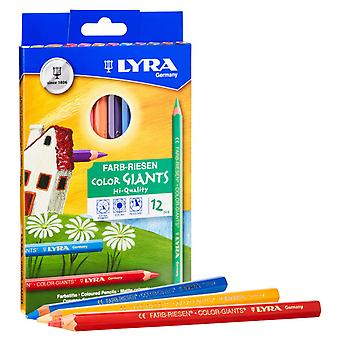 Color Giant Colored Pencils, 6.25Mm, Lacquered, 12 Colors