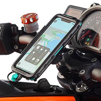 Iphone xr motocicleta de top clemă impermeabil caz de montare