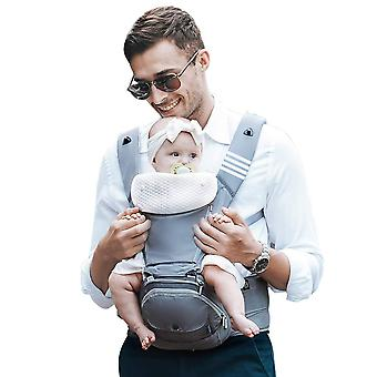 Bebamour copil purtător nou-născut la copil mic, 6 în 1 purtător de copil pentru 0-36 luni, 100% bumbac, pliabil