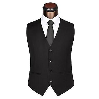 Mens Wedding Suit Vests For Slim Fit Dress Male Formal Waistcoat Jacket