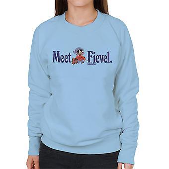 Ein amerikanischer Schwanz Treffen Fievel Mousekewitz Frauen's Sweatshirt