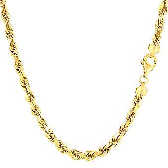 """14K keltainen kulta täytetty vankka köysi ketjun ranne koru, 4,5 mm, 8,5 """""""