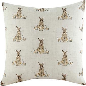 Evans Lichfield Oakwood Hare Repeat Print Cushion Cover