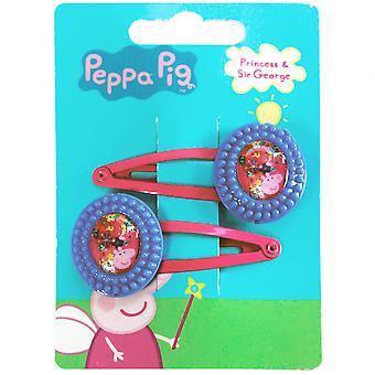 Hair clips Peppa Pig Girls Blue / Fuchsia 2 Pieces