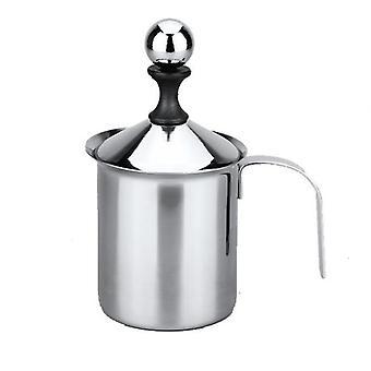 Creme de leite de malha dupla frother de aço inoxidável para cappuccino