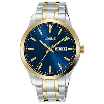 Lorus Mens | Blå | Två ton rostfritt stål armband RH342AX9 Klocka