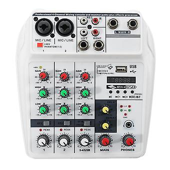 4 Channel Audio Mixer Bluetooth USB Stereo Studio Sound Mixing Console Digital