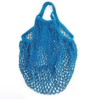 Portable Reusable Grocery Bags, Washable Cotton Mesh String Organic Handbag