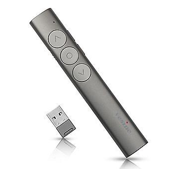 Vesine V9 Akumulator bezprzewodowy prezenter Czerwony laserowy długopis PPT Laser Page Pen Clicker Prezentacja