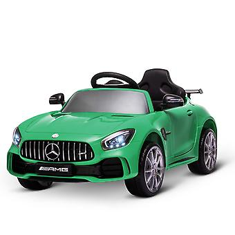 HOMCOM Compatible 12V Battery-powered Kids Electric Ride On Car GTR Toy with Parental Remote Control Music Lights MP3 Suspension Wheels for 3-5 Years Old Green