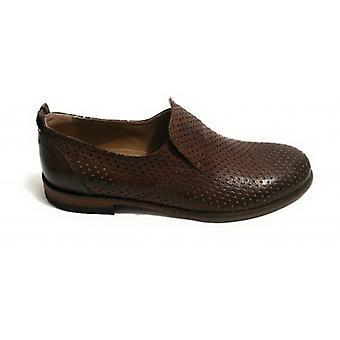Shoes Men's Yox Nicola Barbato Mocassino Artisan Buffalo Perforated Col. Moro Head Us18nb15