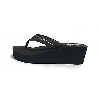 Teenslippers Amerikaanse Polo Teenslippers Zeppa Mod. Rubber Tansy Tc 60 Pl 20 Zwart Ds18up17