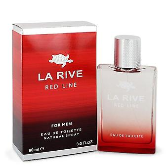 La Rive rode lijn Eau De Toilette Spray door La Rive 3 oz Eau De Toilette Spray