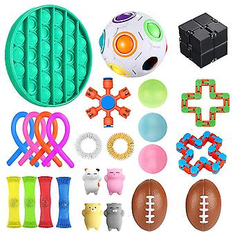25 Stuks Fidget Sensory Toy Set Stress Relief Toys Fun Fidgeting Game Voor Adhd Autisme
