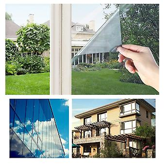 90 X 300 Cm One Way Mirror Window Film, Privacy Glass Self Adhesive Tint
