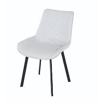 Stacking Pu Upholstered Aluminum Dining Chair