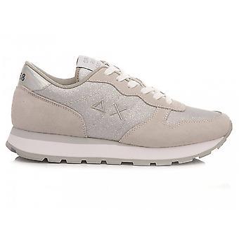 Running Sun68 Ally Thin Glitter Suede/ White Fabric/ Silver Women Ds21su08 Z31204 Sneaker