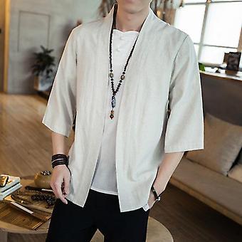 Streetwear Yukata männlich Haori Herren Kimono Shirt, 4xl 5xl