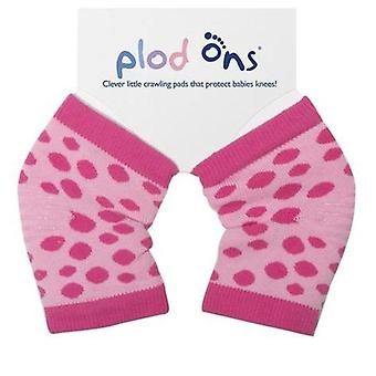 Plod ons pink spot crawling knee pads