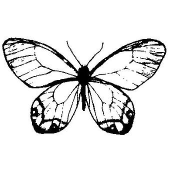 Butterfly No.2 Wood Mounted Stamp