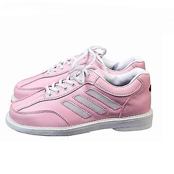 Women Bowling Sneaker Sport Flat Leather Shoes