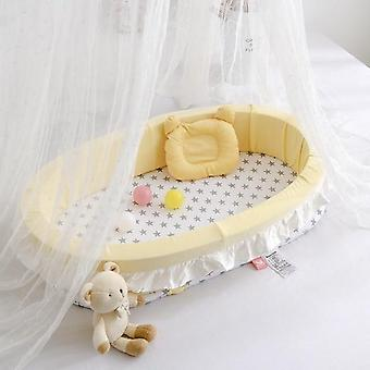 Multi-function Baby Nest Bed For,, Portable Travel, Infant Cotton Cradle Crib,
