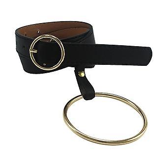 المرأة حزام حزام كبير حزام مزينة حزام الذهب دبوس مشبك الصلبة PU حزام جلدي (مشبك الذهب)