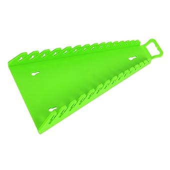 Sealey Wr09Hv omvendt Spanner Rack kapacitet 15 Fastnøgler Hi-Vis grøn