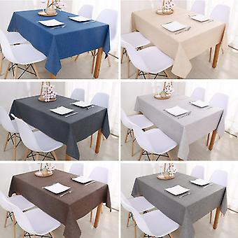 Decorative Table Cloth Rectangular Tablecloths Dining Table Cover Solid Color Cotton Linen Tablecloth