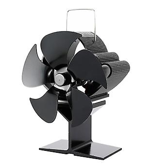 Sf103s 5 Blades Heat Powered Stove Fan For Wood Log Burner Heater Fireplace