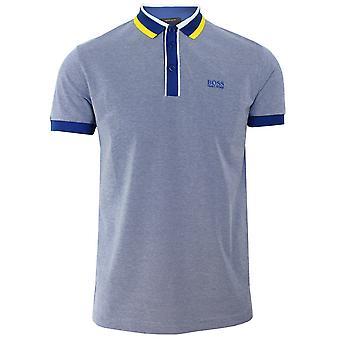 Hugo boss athleisure paddy 2 men's blue polo shirt