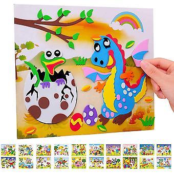 FengChun Aufkleber fr Kinder Sortiment Set, Mosaik Aufkleber Eva DIY handgemachte Kunst Kits fr