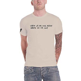 Billie Eilish T Shirt When We All Fall Asleep Logo new Official Mens Natural