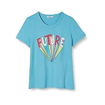 edc by Esprit 040cc1k320 T-Shirt, 470 / Turquoise, S Woman