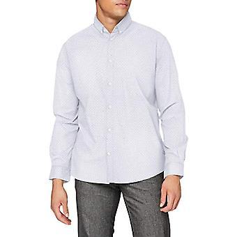 Tom Tailor Print Stretch T-Shirt, 24487-White Blue Crosses D, XXL Uomo