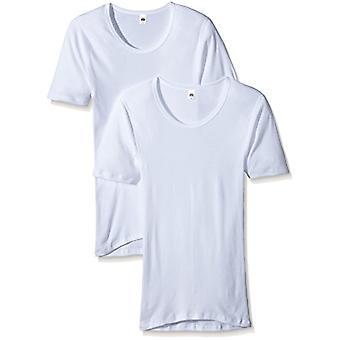 Trigema Herren Unterhemd 100% Bio Doppelpack Dressing Gown, White (Weiss 001), Large (Pack of 2) Man