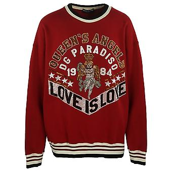 Dolce & Gabbana Love Is Love Red Jumper