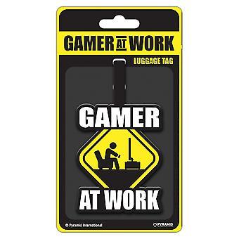 Pyramid International Gamer At Work Caution Sign Luggage Tag