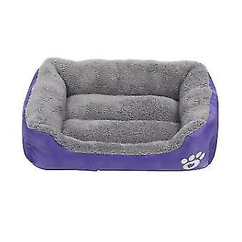 M 54 * 42cm gato de mascota púrpura, cama de perro, nido de mascota suave y cómodo az21823