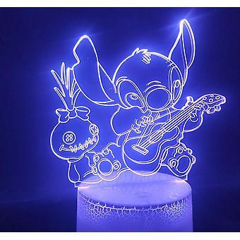Neue Stich Lilo 3d Anime Nachtlicht Atmosphäre Led Tischleuchte ES8657