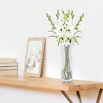 Etched Heart Detail Crystal Glass Vase | M&W